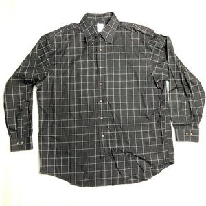 Brooks Brothers 346 Green Red Plaid Non-Iron Shirt